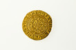 Gold quarter noble of Britain's King Henry VI, reverse