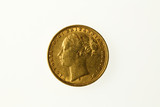 Gold sovereign of Queen Victoria, obverse