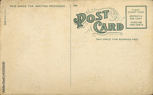 Canvas Retro Unique Vintage Blank Postcard