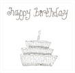 Illustration of children's drawings. Happy birthday.