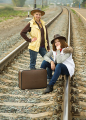 girls travels by railroad