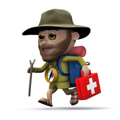 3d Hiker lends medical assistance