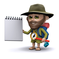 3d Hiker would like you to take notes please