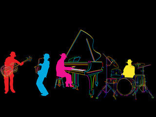 Stylized jazz band