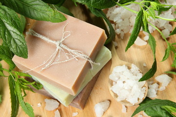 Homemade Soap and Sea Salt