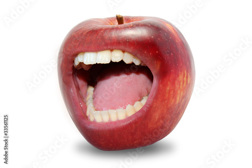 Aggressive apple!