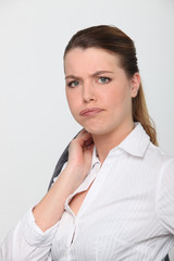 Businesswoman looking bored