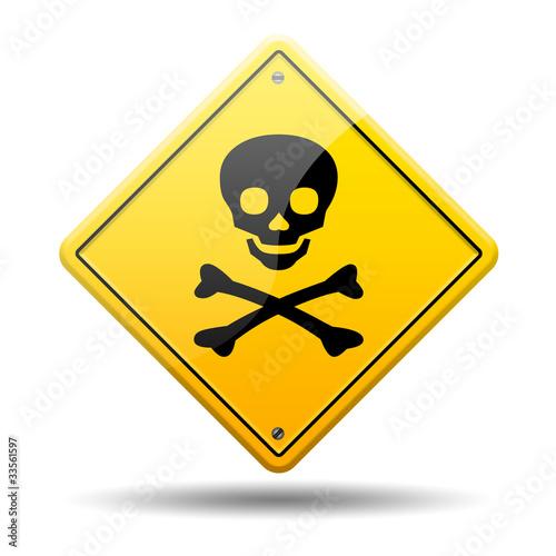 Señal amarilla peligro muerte