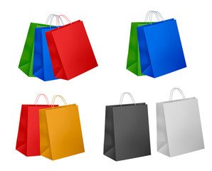 Colorful shopping bags. Sale concept