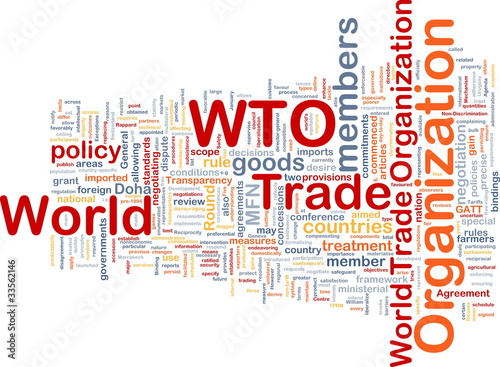 World trade organization background concept