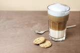 Latte with cookies