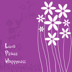 Love - Peace - Happiness - Karte