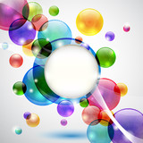 Fototapety Sfondo con bolle - Bubbles background