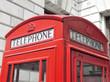 classic red phone box in London, United Kingdom