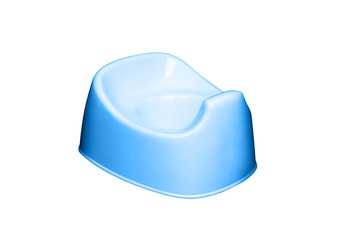 blue potty isolated