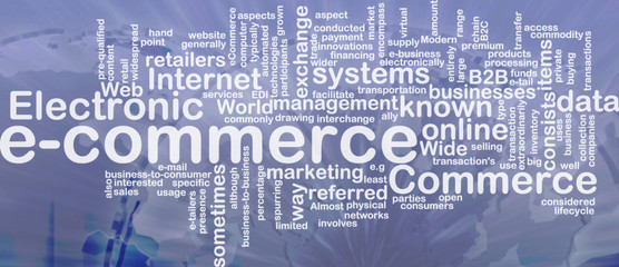 E-commerce word cloud