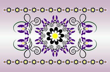 horizontal ornament with iris