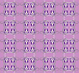 pattern with iris seamless texture