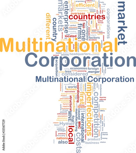 Multinational corporation background concept