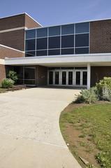 school building entrance