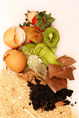 Organic waste for compost
