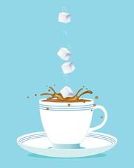 sugar cube and tea