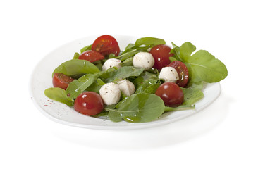 Fresh salad with mozzarella