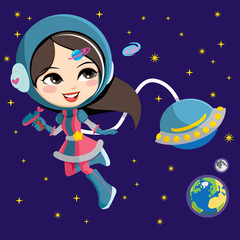 Pretty Astronaut Girl