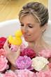 bagno cura corpo viso papera rose