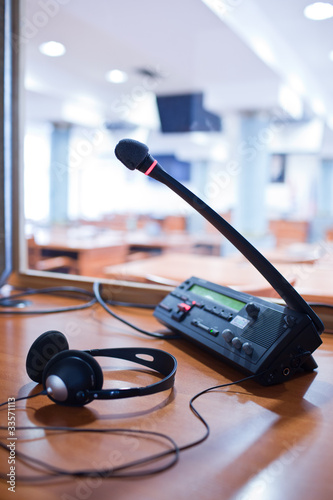 interpreting - Microphone and switchboard