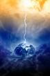 Leinwandbild Motiv Planet Earth in danger