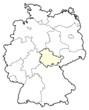 Detaily fotografie Mapa Německo, Durynsko zvýrazněny