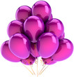 Balloons party birthday holiday decoration colored lilac purple