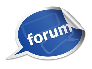 Forum speech bubble