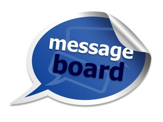 Message board speech bubble