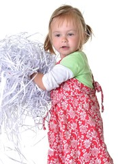 Shredded Documents and baby