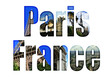 Paris, France with different tourist spots