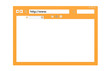 Abstract Browser window. Orange with copy space.