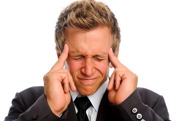 Man suffers from bad headache
