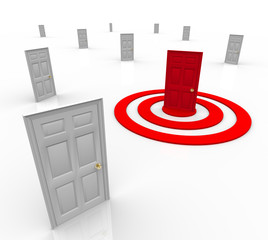 One Targeted Door Address in Bulls-Eye Target Marketing