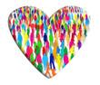Foule de gens dans un coeur