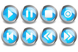Music Button Blue