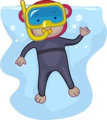 Snorkeling Monkey