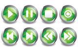 Music Button Green