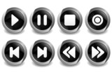 Music Button Black