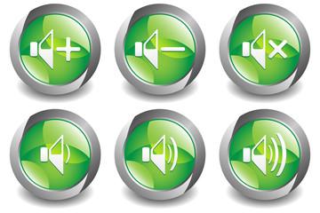 Volume Button Green