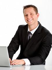Friendly sales representative