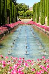 Gärten des Alcázar de los Reyes Cristianos, Cordoba/Spanien