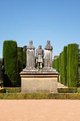 Christopher Columbus Statue im Alcazar Cordoba, Spanien
