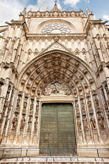 Eingang zur Kathedrale von Sevilla, Spanien